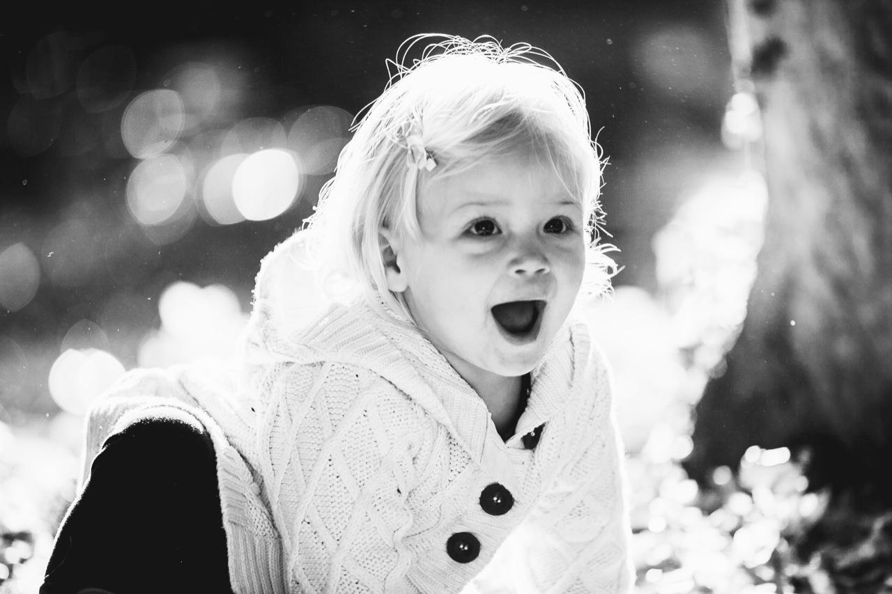 Mädchen Foto Schwarz-Weiß